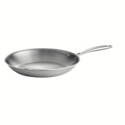 Tramontina 80116/007DS Gourmet 18/10 Stainless Steel Induction-Ready Tri-Ply Clad Fry Pan, 30cm , Stainless