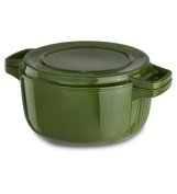 KitchenAid KCPI40CRIG Professional Cast Iron 3.8l Casserole Cookware - Ivy Green