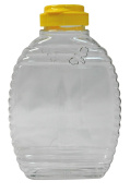 Mann Lake CN538 12-Pack Bee Squeeze Bottle with Yellow Flip Top Lid, 0.7kg