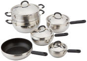 Cook Pro 554 10-Piece Belly Shaped Cookware Set