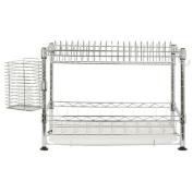 Safavieh Happy Mess Darina Adjustable Premium 30cm Wire Dish Rack, Chrome