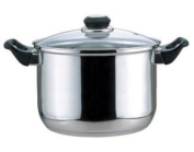Culinary Edge 01108 Stock Pot with Glass Cover, 7.6l