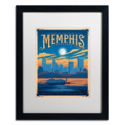 Trademark Fine Art Memphis Tennessee Canvas Art by Anderson Design Group, 41cm by 50cm , White Matte with Black Frame