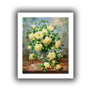Art Wall williams-b-005-26x 32 Albert Williams 'Princess Diana Roses in a Cut Glass Vase' Unwrapped Canvas Artwork, 80cm by 90cm