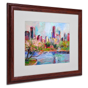 Trademark Fine Art Cityscape 2 Artwork by Richard Wallich, 41cm by 50cm , Wood Frame