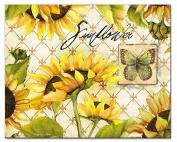 CounterArt Sunflowers in Bloom Glass Cutting Board, 38cm x 30cm