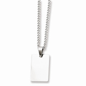 Jewellery Best Seller Stainless Steel Polished Dog Tag Necklace