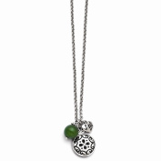 Jewellery Best Seller Stainless Steel Antiqued with 5.1cm extension Synthetic Jade Necklace