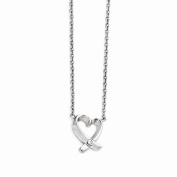 Top 10 Jewellery Gift Stainless Steel Polished Heart with CZ Necklace