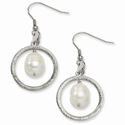 Jewellery Best SellerStainless Steel Circle with FW Cultured Pearl Dangle Earrings