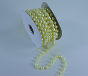 8mm String Pearl Beads on Spool for Wedding Favours, Crafts, Decorations & More - 8 Yards