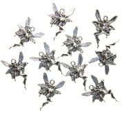Fairy Nymph Antique Silver Charms 21mmX15mm AVBeads