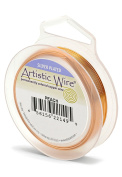 Artistic Wire 26S Gauge Wire, Peach, 30-Yard