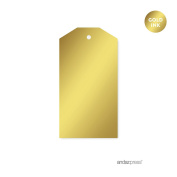 Andaz Press Classic Favour Gift Tags, Metallic Gold Ink, Solid Gold, 12-Pack, Not Gold Foil, For Christmas Gifts, Presents