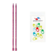 Knitter's Pride Dreamz Single Point 10-inch (25cm) Knitting Needles; Size US 4 (3.5mm) 200403