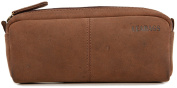 LEABAGS Fort Wayne genuine buffalo leather pencil holder in vintage style