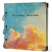 FaCraft Father's Day Gifts Scrapbook Album 20cm x 20cm , Vintage Scrapbooking with Retro Cover