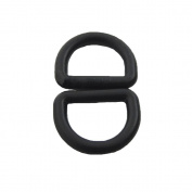 Bluemoona 100 PCS - Plastic D Dee Rings for Webbing Belt Buckles Bag 12mm