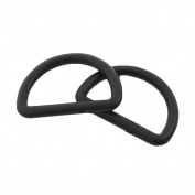 Bluemoona 100 PCS - Plastic D Dee Rings for Webbing Belt Buckles Bag 25mm