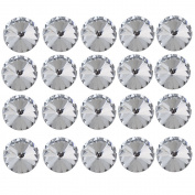 DIY Rhinestone Crystal Satellite Flower Sofa Headboard Upholstery Buttons Pack of 20