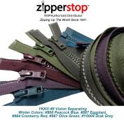 ZipperStop Wholesale YKK® - Fashion Trends Zippers 80cm Sport YKK® #5 Vislon Jacket Zipper (5 Assorted Colours) Medium Weight Moulded Plastic - Separating
