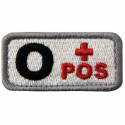 EmbTao Type O Positive Tactical Blood Type Hook and loop Patch - Black & Red - 5.1cm x 2.5cm