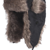 FLADEN Authentic Wear - Trapper Hat for Thermal Winter Warmth with Faux Fur Brow Trim - With Popper Fastener Chin Strap and Ear Flaps