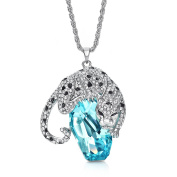 Neoglory Panther Pendant Crystal Made with Elements Long Necklace 2 Colours