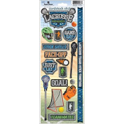 Paper House Productions STCX-0191E Sports Cardstock Stickers, Lacrosse