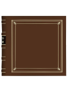 Pioneer Photo Albums 200-Pocket Ring Bound Tan Bonded Leather with Gold Accents Cover Photo Album for 10cm x 15cm Prints