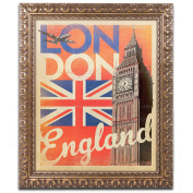 Trademark Fine Art London England Canvas Artwork by Anderson Design Group, 41cm by 50cm , Gold Ornate Frame
