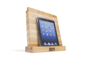 John Boos I Block Maple Wood Cutting Board and Tablet Stand