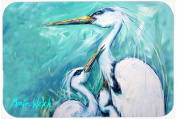 Caroline's Treasures MW1159LCB Mother's Love White Crane Glass Cutting Board, Large, Multicolor