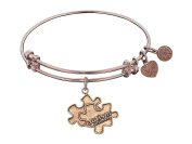 """Angelica Antique Smooth Finish Brass Generation Rescue """"autism"""" Expandable Bangle"""