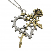 BLOOM OF THE ETERNALS Two Tone Heart Pendant