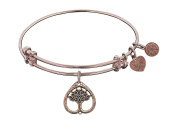 Angelica Tree Of Life Expandable Bangle Collection in Brass