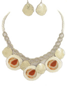 Fashion Jewellery ~ Art Design and Hammered Metal Necklace and Earring Set