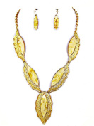 Fashion Jewellery ~ Cream Unique Design Necklace and Earring Set