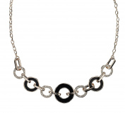 Azzaria...Gorgeous 'Open Circle' Statement Necklace...Rose Gold Finish…Length