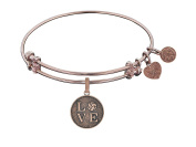 Angelica Collection Love Volleyball Expandable Bangle Brass