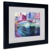 Trademark Fine Art Chicago 2 Artwork by Richard Wallich, 28cm by 36cm , Black Frame