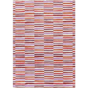 0.8m x 2.4m Gridded Lines with Different Accents of Pink and Red