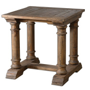 Wood Saturia 28W Reclaimed Fir Accent Table Model-24341
