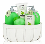 Pure! Rachelle Parker Luxury Spa Basket- Lush Bath & Body Treats to Hydrate Naturally! Give the Gift that Gives Twice!