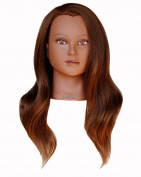 Ladella Beauty 60cm - 70cm Cosmetology (Heavy Density) Ethnic 100 %Human Hair Mannequin Manikin Training Head - Sabina