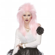 Characters Extra Long Rocker Synthetic Wig - Pink