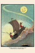 "Buyenlarge 0-587-24883-1-P1218 ""Wynken, Blynken, and Nod Sailed Off in a Wooden Shoe"" Paper Poster, 30cm x 46cm"