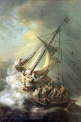 """Buyenlarge 0-587-26446-2-P1218 """"Christ in a Storm On The Sea of Galilee"""" Paper Poster, 30cm x 46cm"""