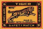 """Buyenlarge 0-587-26020-3-P1218 """"Tiger Safety Match"""" Paper Poster, 30cm x 46cm"""
