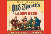"Buyenlarge 0-587-24604-9-P1218 ""West Bend Old Timer's Lager Beer"" Paper Poster, 30cm x 46cm"